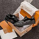 Мужские кроссовки Louis Vuitton Men's Sneakers Black / Луи Витон Черные, фото 2