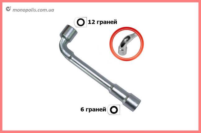 Ключ торцевой L-образный с отверстием Intertool - 15 мм, фото 2