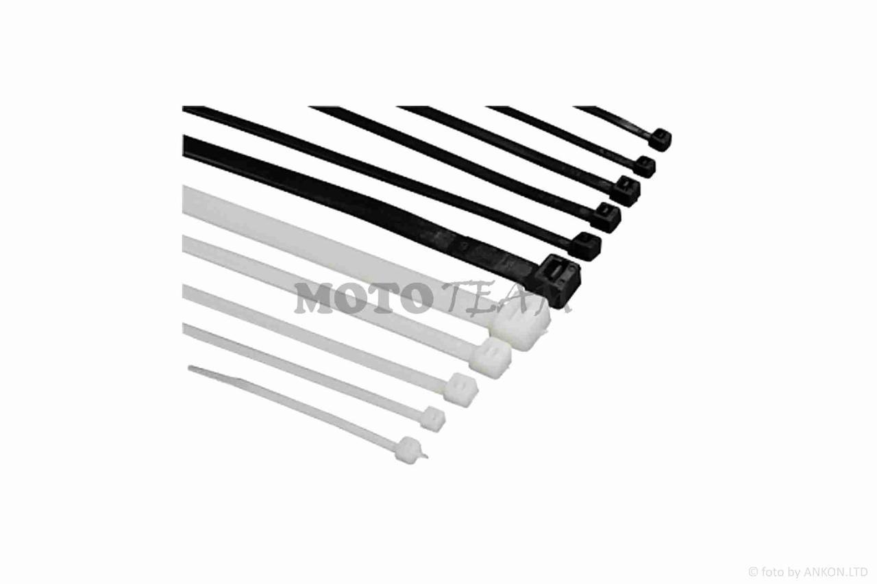 Стяжки нейлоновые (хомуты)  3.6-250mm, 100шт, белые