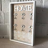"""Ключниця вішалка для ключів """"Home"""" (30*20*3 див.)"""
