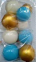 """Набір """"Кульки святкові (9шт) білі/блакитні/золоті"""""""