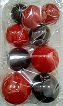 """Набір """"Кульки святкові (9шт) Червоно/чорні"""