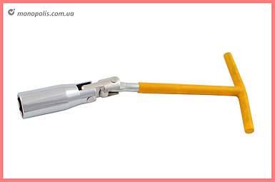 Ключ свечной Т-образный с шарниром Intertool - 16 мм