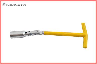 Ключ свечной Т-образный с шарниром Intertool - 16 х 250 мм