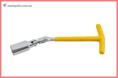 Ключ свечной Т-образный с шарниром Intertool - 21 х 250 мм