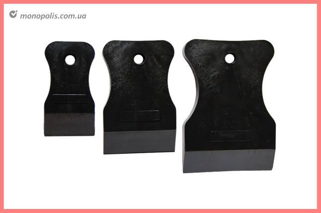Набір шпателів гумових Housetools - 40 x 60 x 80 мм блістер (3 шт.), фото 2