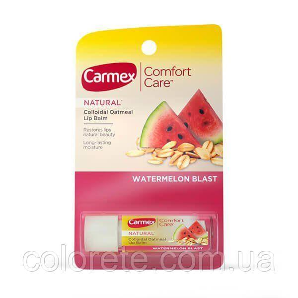 "Carmex бальзам для губ ""Арбуз"" в стике  Lip Balm with Colloidal Oatmeal Watermelon Blast stick"
