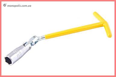 Ключ свечной Т-образный с шарниром Mastertool - 16 x 250 мм