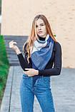 🔥ТОП!!! Большой синий кашемировый платок в клетку LEONORA, фото 4