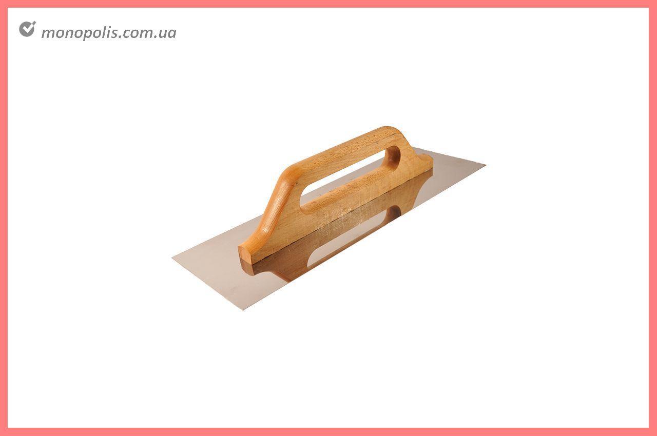 Гладилка нержавеющая DV - 130 x 480 мм, ручка дерево