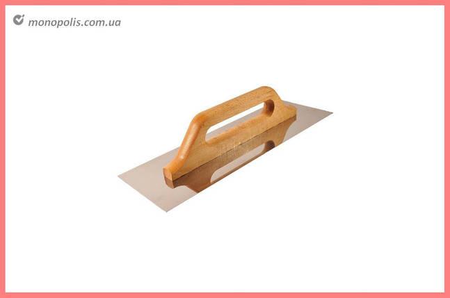 Гладилка нержавеющая DV - 130 x 480 мм, ручка дерево, фото 2