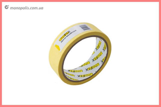 Лента малярная Unifix - 30 мм x 20 м, желтая, фото 2