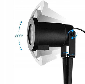 Лазерный проектор Star Shower projection outdoor light halloween YU120 лазерная подсветка дома, фото 2