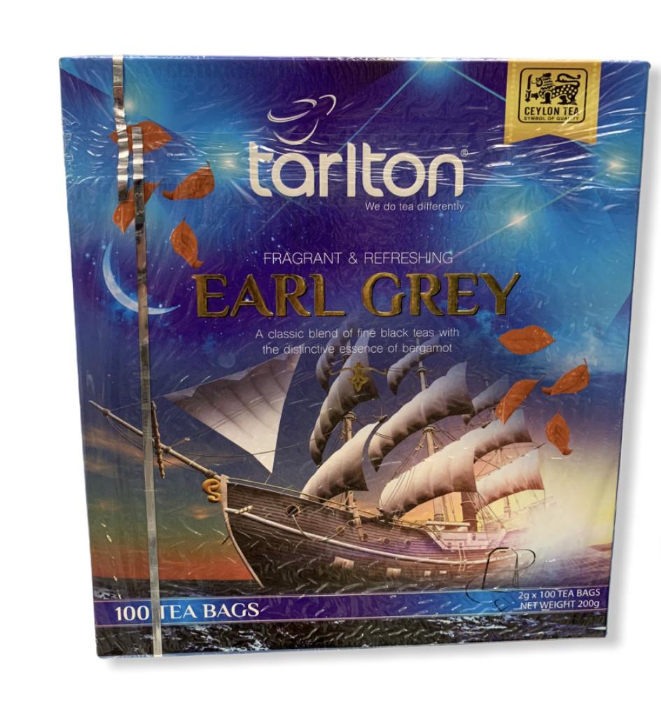 Чай чёрный с бергамотом в пакетиках  Тарлтон , 100 пакетиков