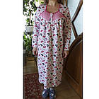 Ночная рубашка женская теплая трикотаж футер Оля р96 20036911, фото 2