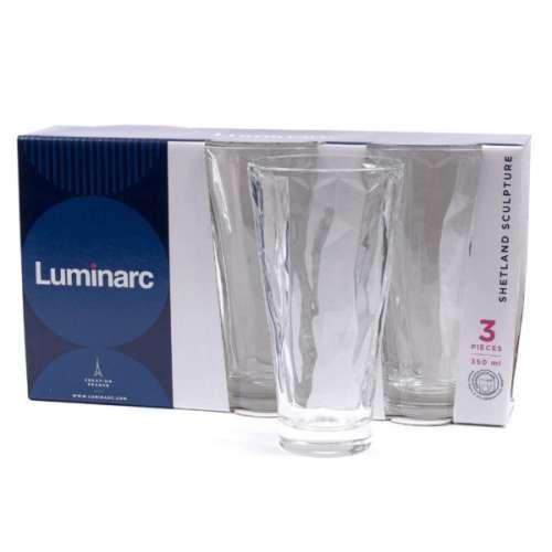 Набор стаканов высоких Luminarc Шетланд Скульптура 350мл 3шт.