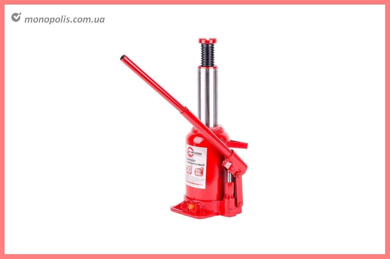Домкрат гидравлический Intertool - 20 т х 440 мм, одноштоковый