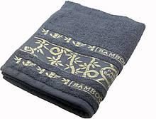 Полотенце махровое Parisa Бамбук 70х140 хлопковое серый SKL53-239713