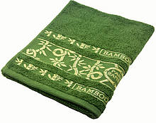 Полотенце махровое Parisa Бамбук 70х140 хлопковое оливковый SKL53-240090