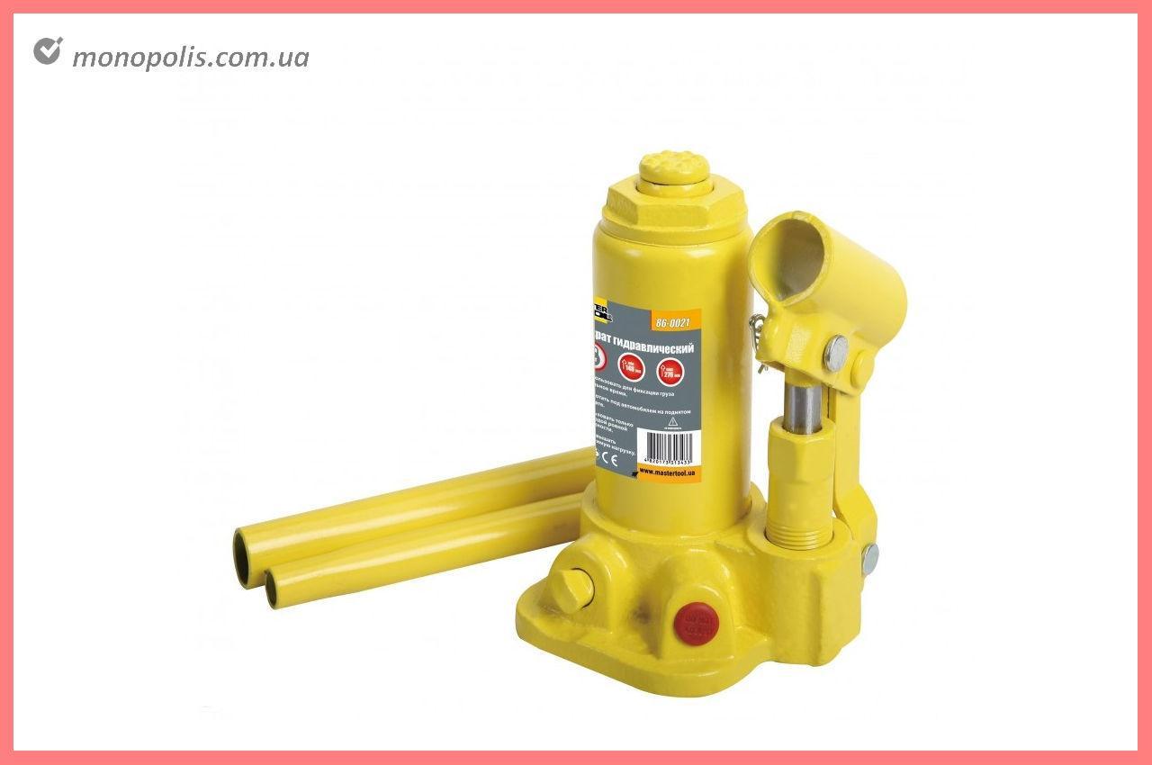 Домкрат гидравлический Mastertool - бутылочный 2 т x 276 мм (в кейсе)