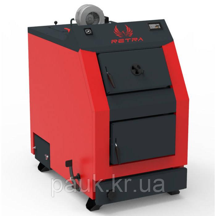 Котел стальной РЕТРА-3М-32 кВт для сжигания твердого топлива
