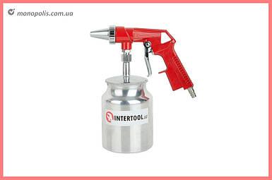 Пневмопистолет пескоструйный Intertool - нижний бак 1000 мл x 8 атм
