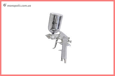 Пневмопистолет лакокрасочный Intertool - верхний бак 400 мл, d=1,5 мм