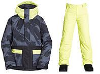 Зимний раздельный мембранный термокомбинезон, горнолыжный костюм Billabong для мальчика 140,146,152 см желтый, фото 1