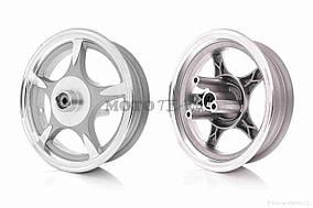 Диск колеса передний  10-2.50  литой, 5 спиц, диск, d12  (звезда)  #1 (WIND)