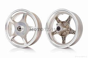 Диск колеса передний  10-2.50  литой, 5 спиц, диск, d12  (звезда)  #2 (WIND)