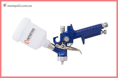 Краскопульт пневматический HVLP Intertool - 125 мл x 1,0 мм верхний бак