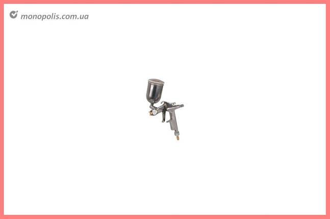 Пневмопістолет лакофарбовий HP Miol - плаваючий алюмінієвий бак 200 мл x 0.5 мм, фото 2
