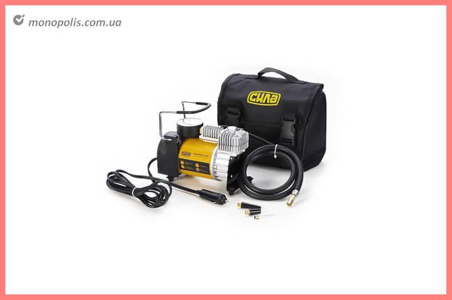 Миникомпрессор автомобільний Сила - 12 x 10 bar x 35 л/хв, однопоршневий, фото 2