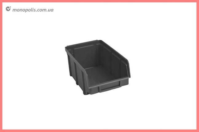 Ящик для метизів Wave - 230 х 145 х 125 мм, чорний, фото 2