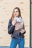 🔥ТОП!!! Большой бежевый кашемировый платок в клетку LEONORA, фото 3