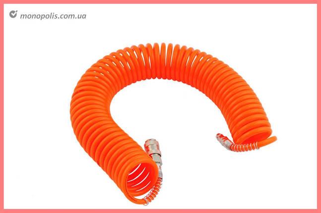 Шланг спиральный Intertool - 15 м, пластиковый, фото 2