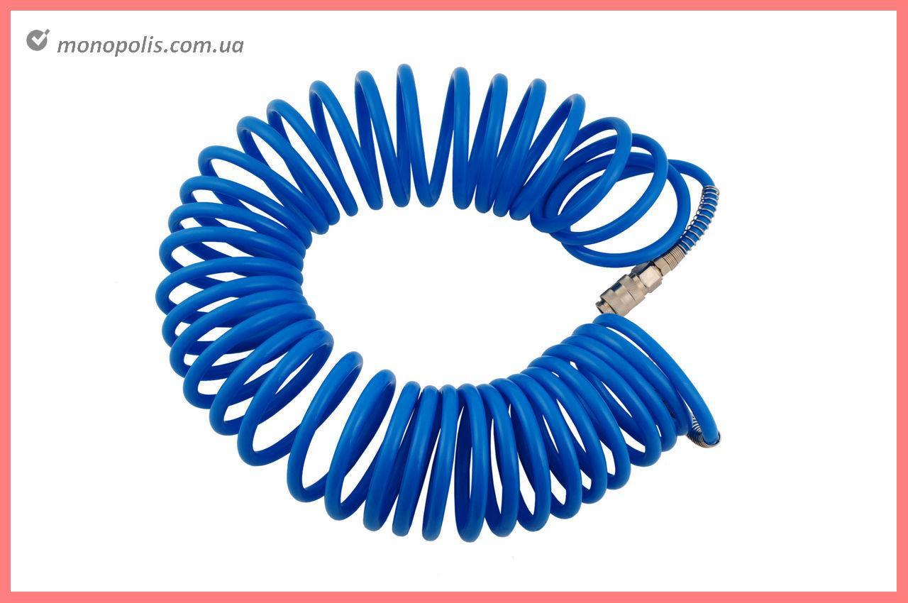 Шланг спиральный Miol - 15 м, 6,5 х 10 мм, полиуретановый