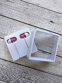 Original H/F Xiaomi Capsule Pink/white (круглый шнур, пластик. коробка)