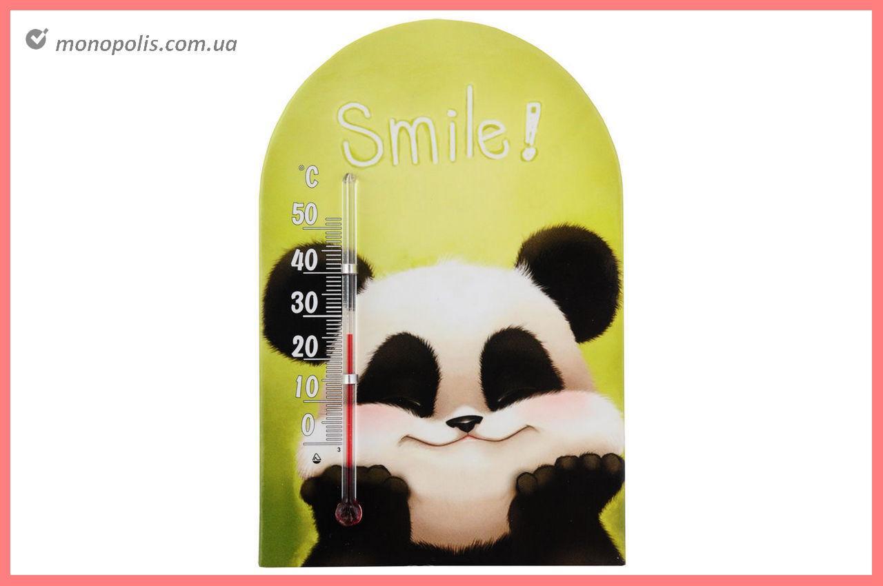 """Термометр кімнатний Стеклоприбор - (0/+50°C) зоомир липучка """"смайл"""""""