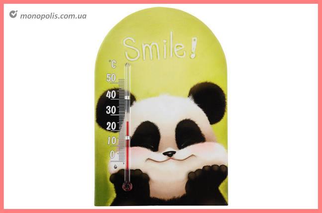 """Термометр кімнатний Стеклоприбор - (0/+50°C) зоомир липучка """"смайл"""", фото 2"""