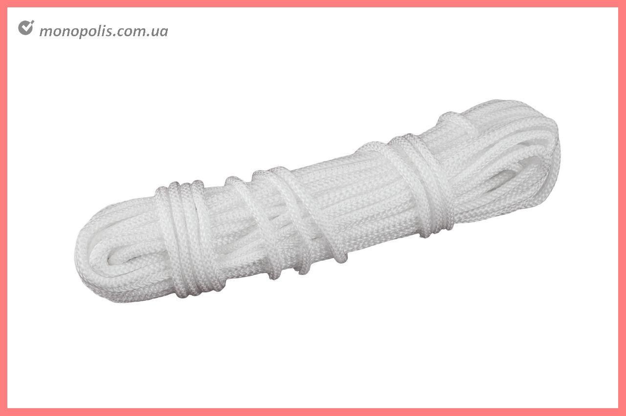Шнур бытовой UA - вязаный 5 мм х 15 м, белый