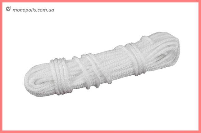 Шнур бытовой UA - вязаный 5 мм х 15 м, белый, фото 2