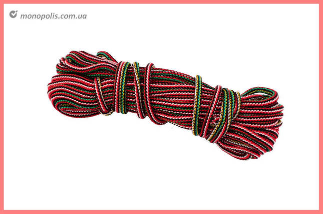 Шнур бытовой UA - вязаный 5 мм х 15 м, цветной, фото 2