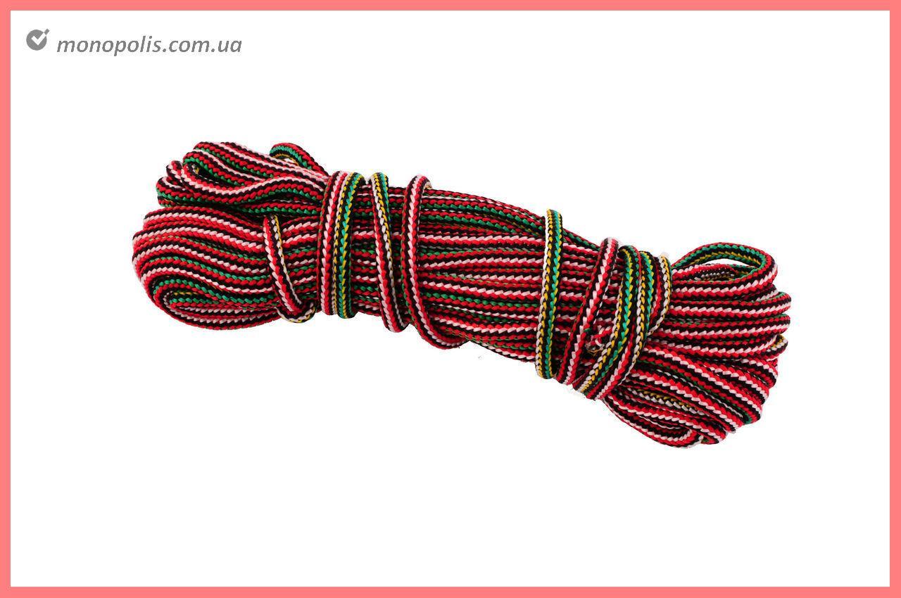 Шнур бытовой UA - вязаный 6 мм х 15 м, цветной
