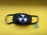 Захисна маска для особи, чорний колір, багаторазова з великим принтом жовтого кольору Virus-Cobra