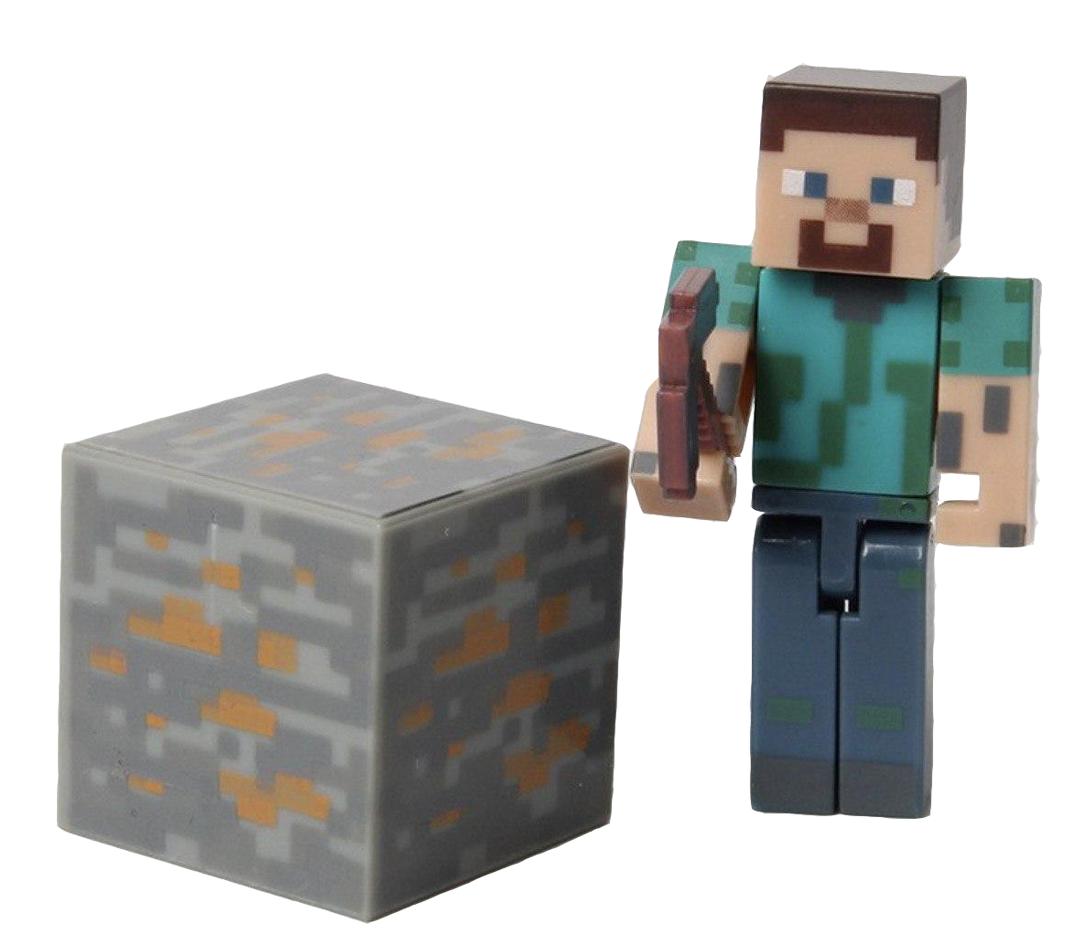 Фигурка Майнкрафт Стив, с аксессуарами, 6 см - Steve Minecraft