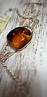 """Браслет серебро 925 с огромным натуральным  янтарем """"Афина"""", фото 1"""