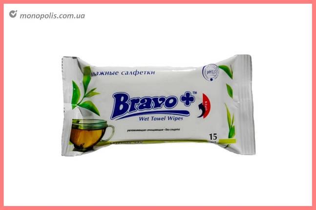 Серветки вологі Bravo - дитяче ромашка (60 шт.), фото 2