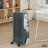 Обогреватель масляный AEG RA 5520, 7 секций, 3 уровня мощности, термостат, фото 5