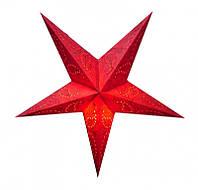 """Светильник картонный Звезда пятилучевая """"Red Paisley Embd."""""""